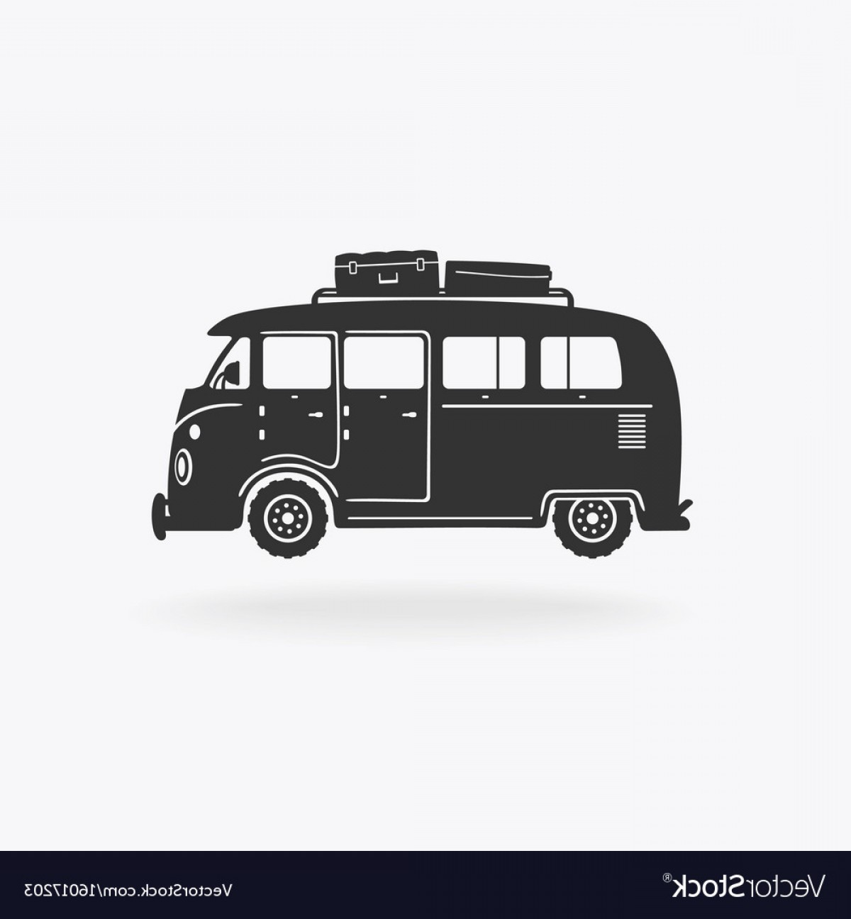 Pic Bus Vector Format: Mini Bus For Travel Symbol Vector