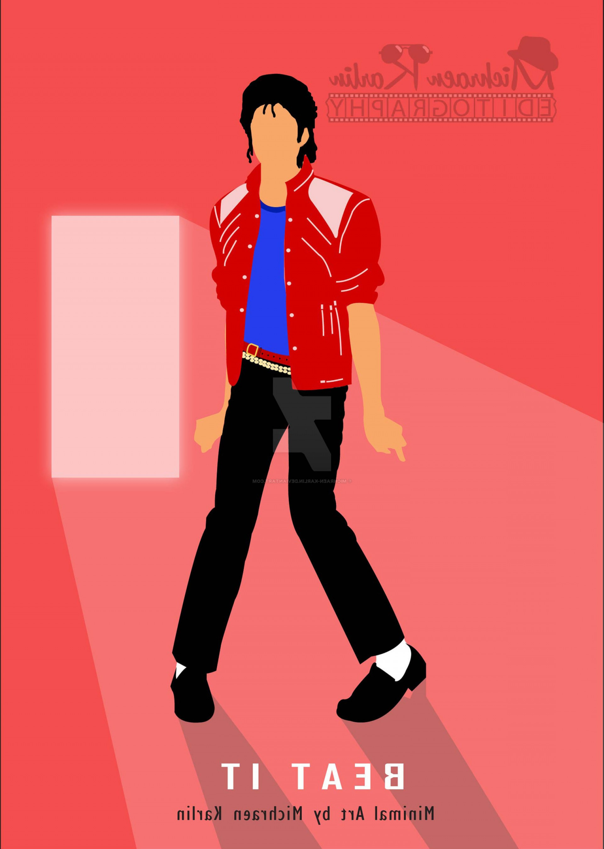 Bad Michael Jackson Vector: Minimal Poster By Michraen Karlin