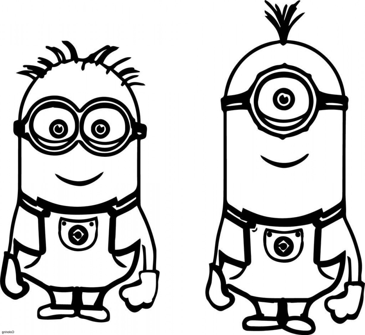 Minion From Despicable Me 2 Vector Image: Minions Despicable Me Coloring Pages Refrence Minion
