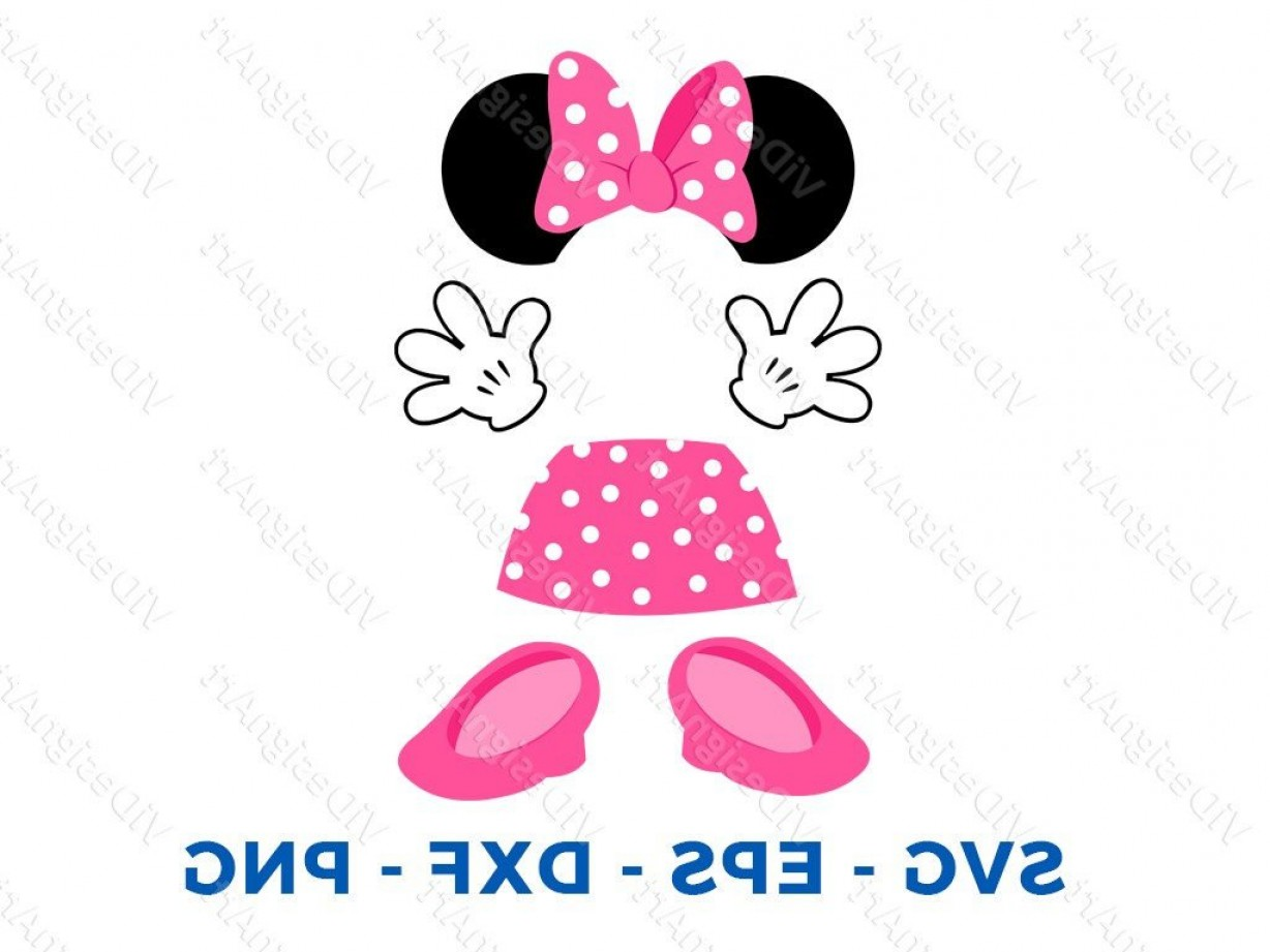 Minnie Mouse Party Hat Vector: Minnie Mouse Body Parts Svg Minnie Dress