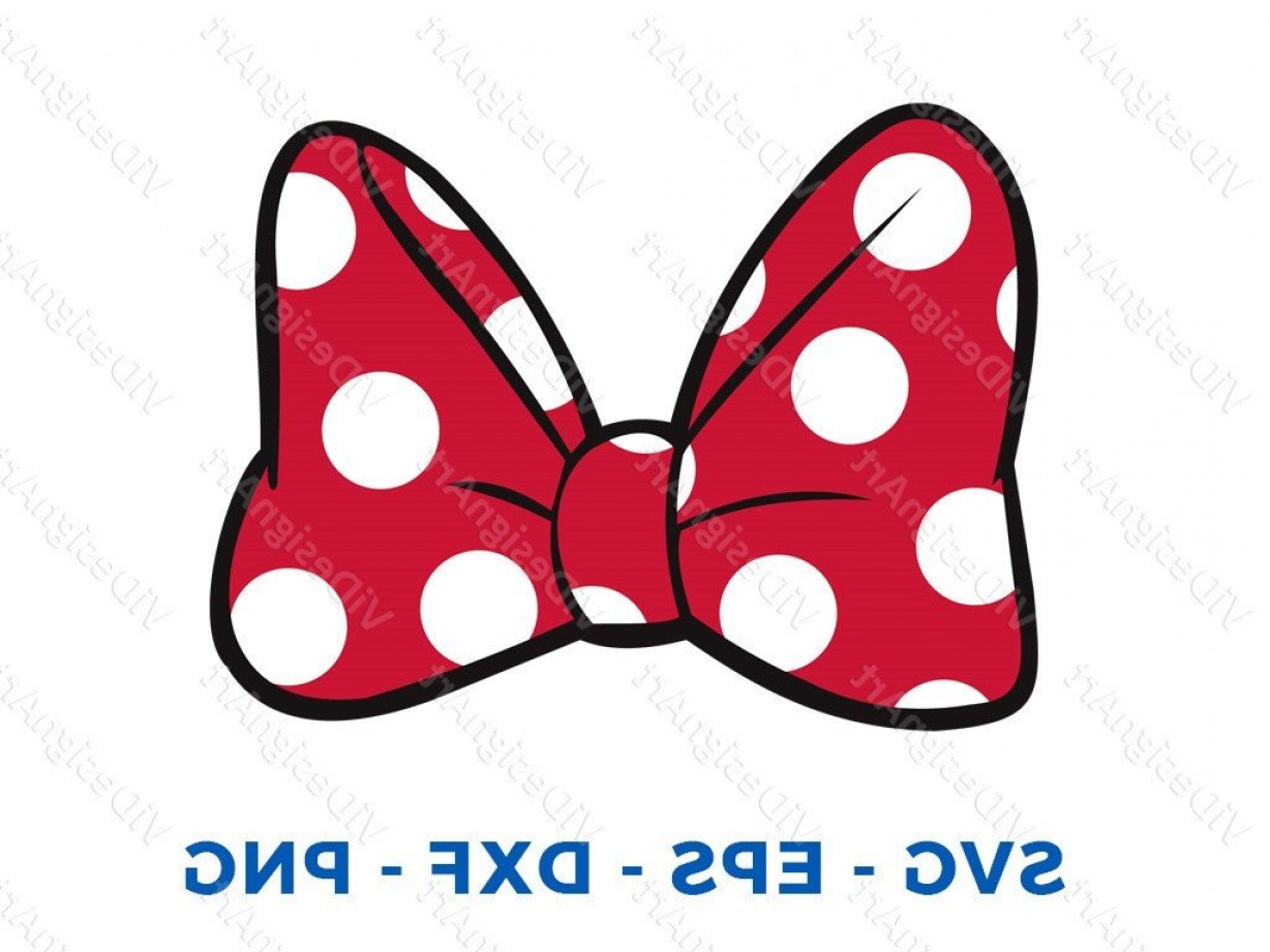 Minnie Mouse Party Hat Vector: Minnie Mouse Bow Svg Dxf Png Vector Cut