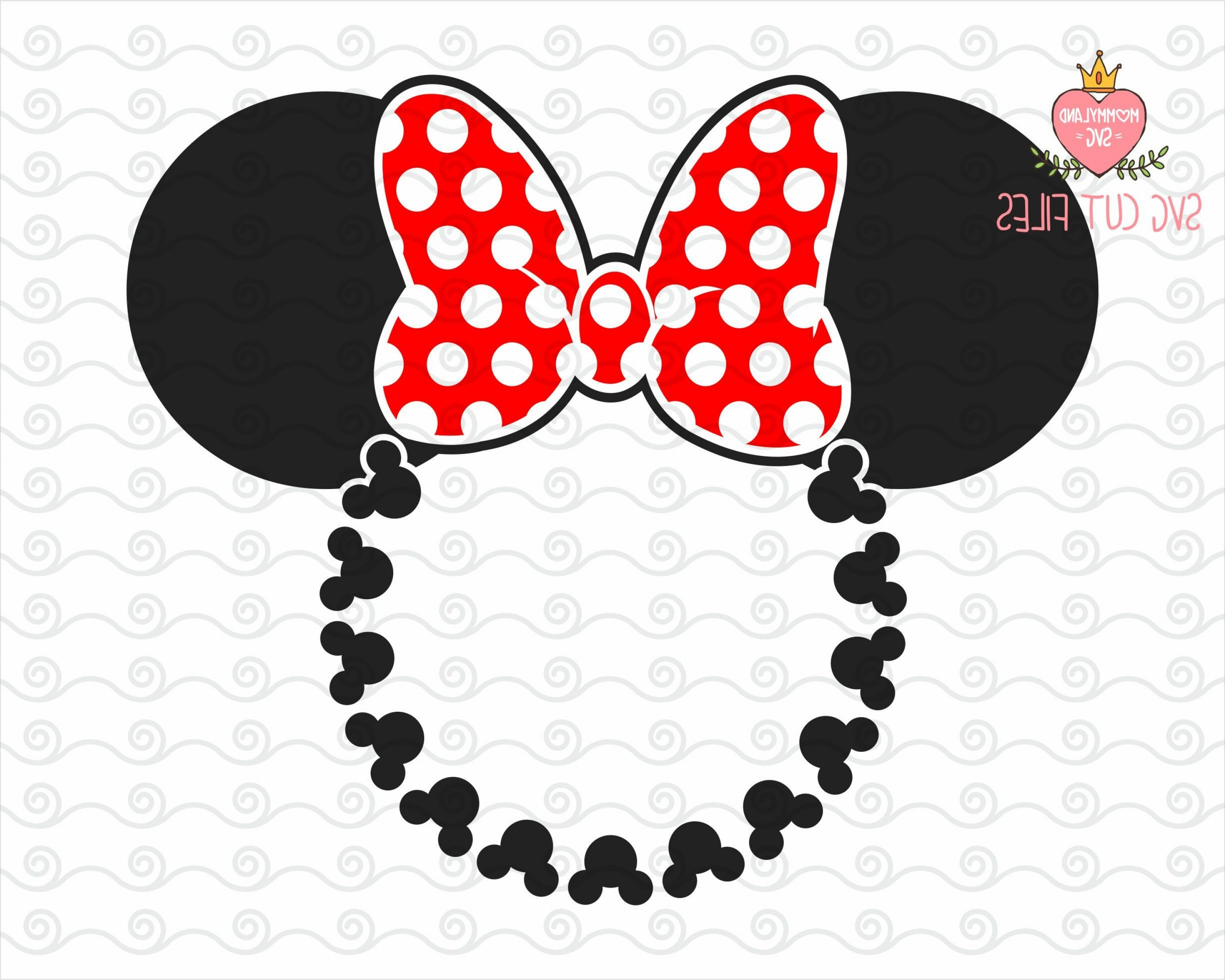 Minnie Mouse Head Vector: Minnie Mouse Head Monogram Svg Mickey
