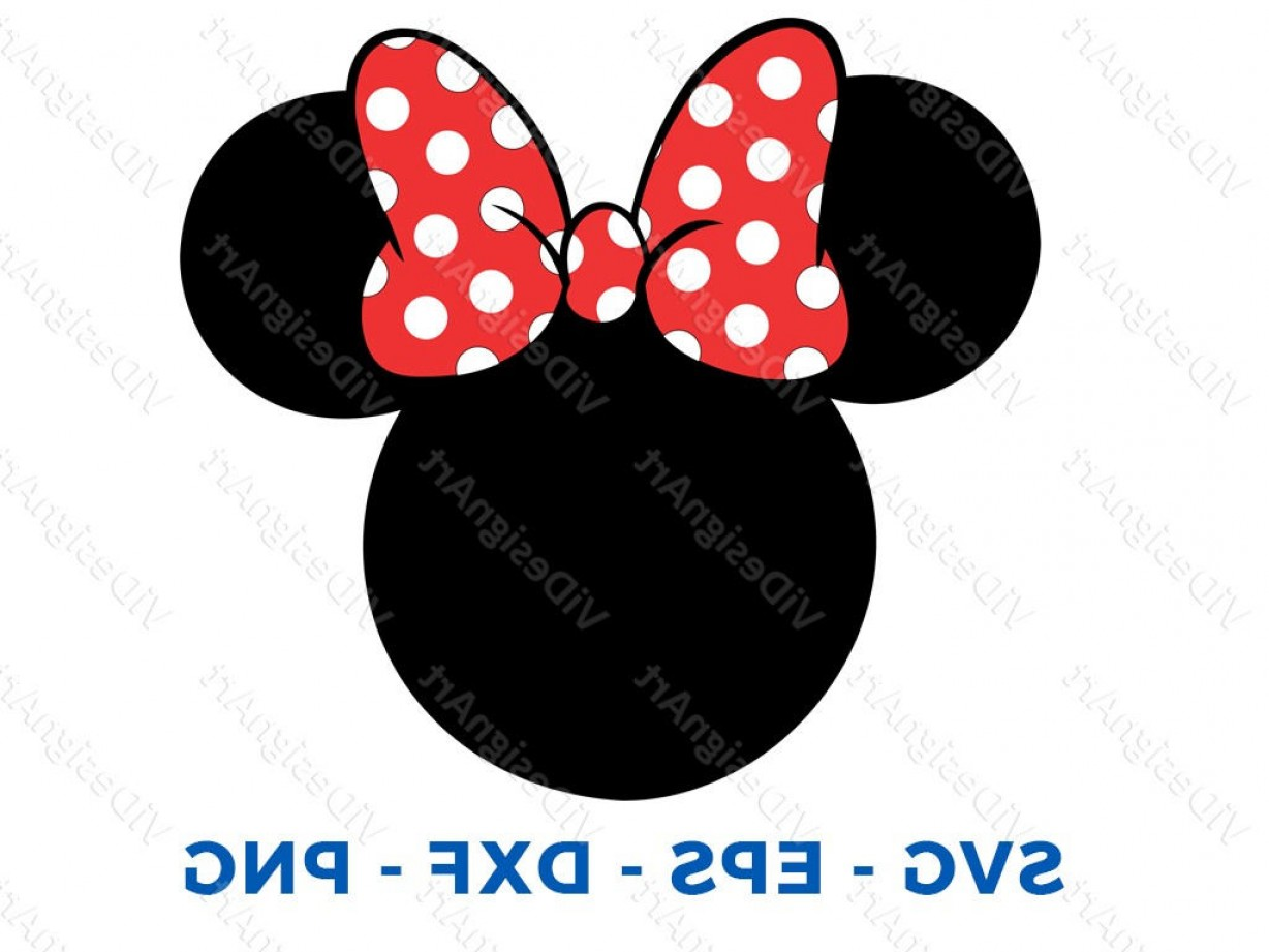Minnie Mouse Party Hat Vector: Minnie Mouse Head Svg Dxf Png Vector Cut