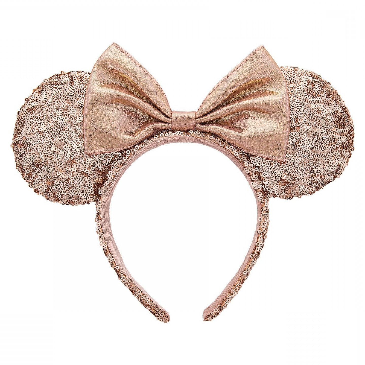 Minnie Mouse Head Vector: Minnie Mouse Rose Gold Sequined Ear Headband