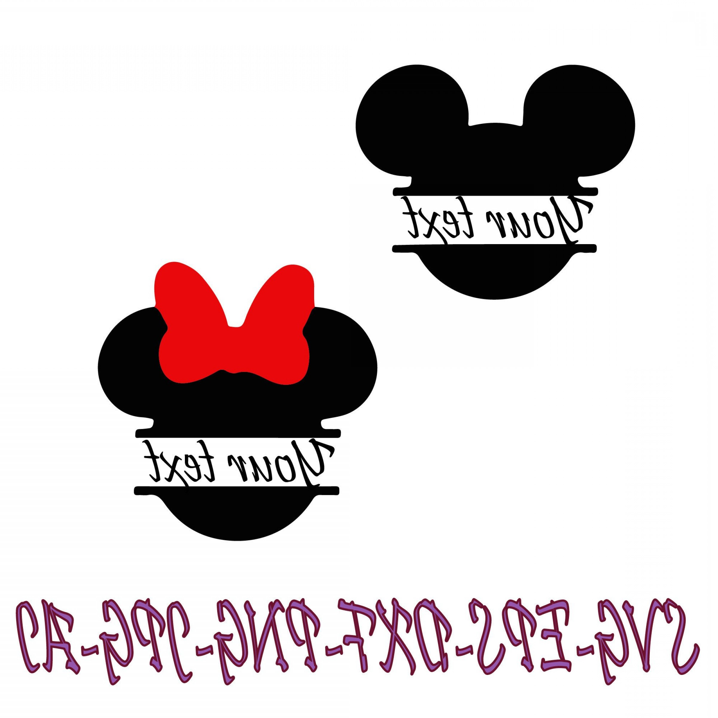 Minnie Mouse Head Vector: Minnie Mouse Svg Digital Download Minnie