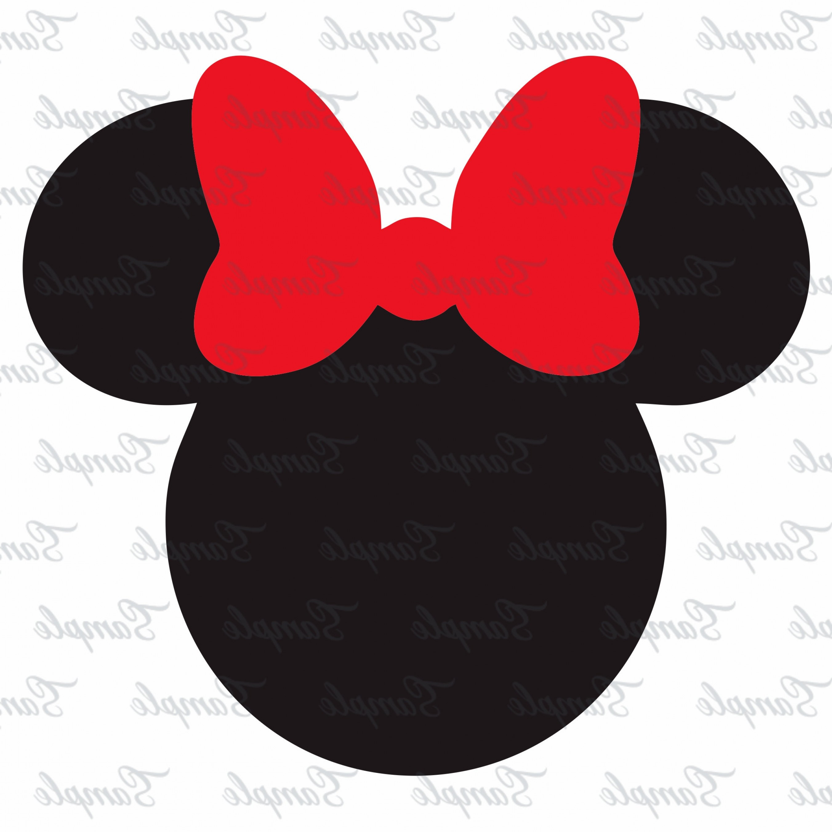 Minnie Mouse Vector Clip Art: Minnie Mouse Svg Minnie Head Svg