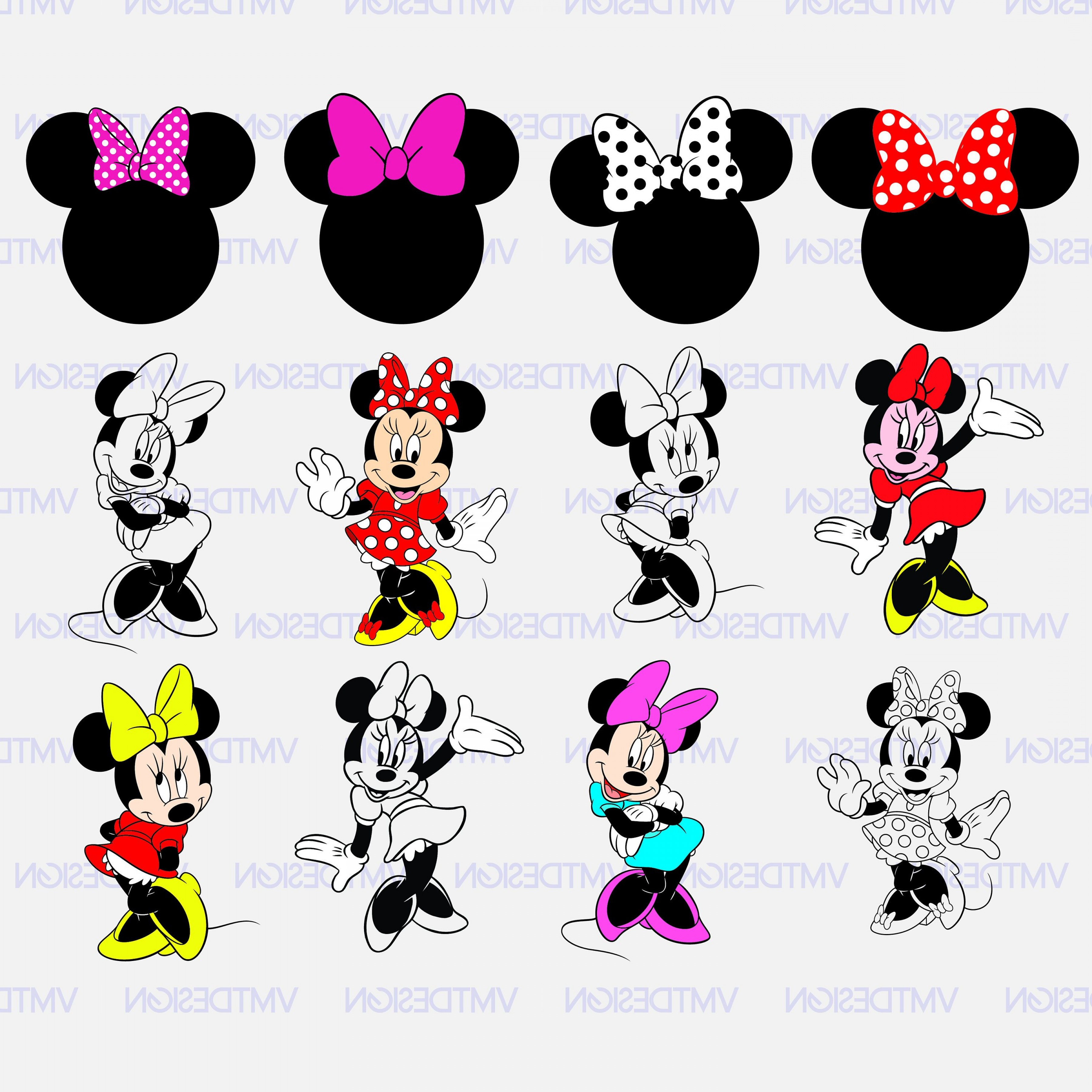 Minnie Mouse Party Hat Vector: Minnie Mouse Svg Minnie Mouse Head Svg