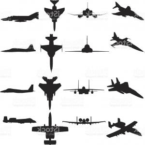 F-16 Vector: Military Aircraft Silhouette Collection Gm