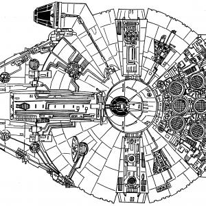 Millenium Falcon Vector Drawing: Millenium Falcon Vector Symbol