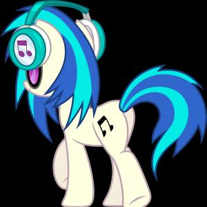 Vinyl MLP Vector: Vector The Croc And Vinyl Scratch