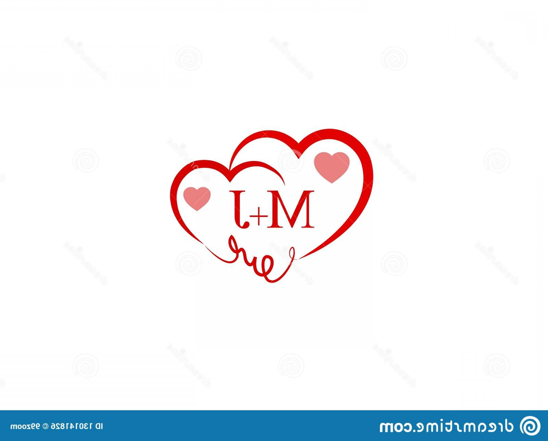 Love M J Vector: Mj Initial Heart Shape Red Colored Love Logo Letter Design Wedding Invitation Name Business Image
