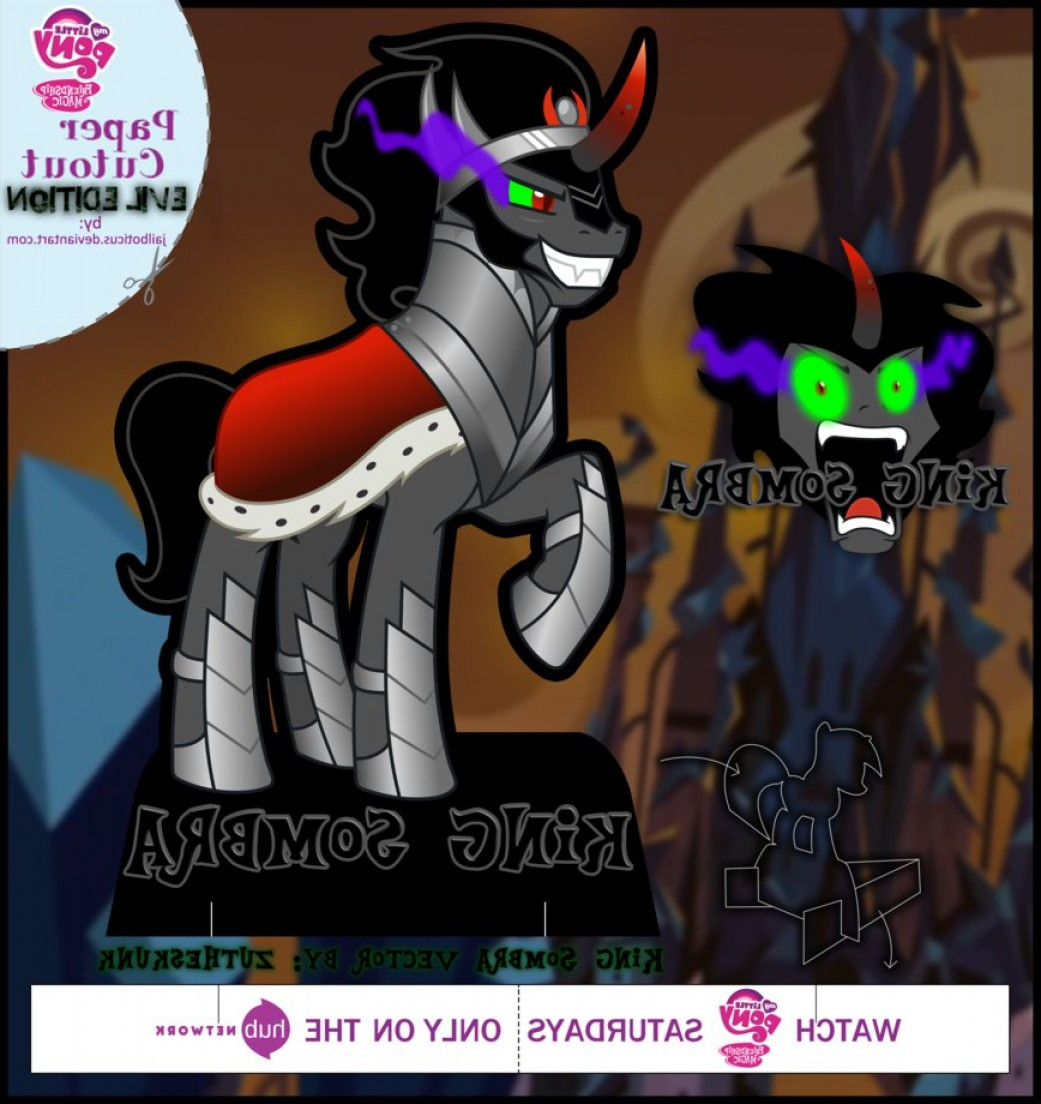 King Sombra Vector: Mlp Cut Out King Sombra