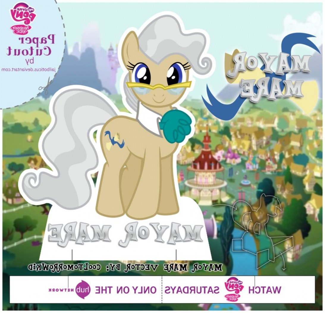 Mayor MLP Vector: Mlp Cut Out Mayor Mare