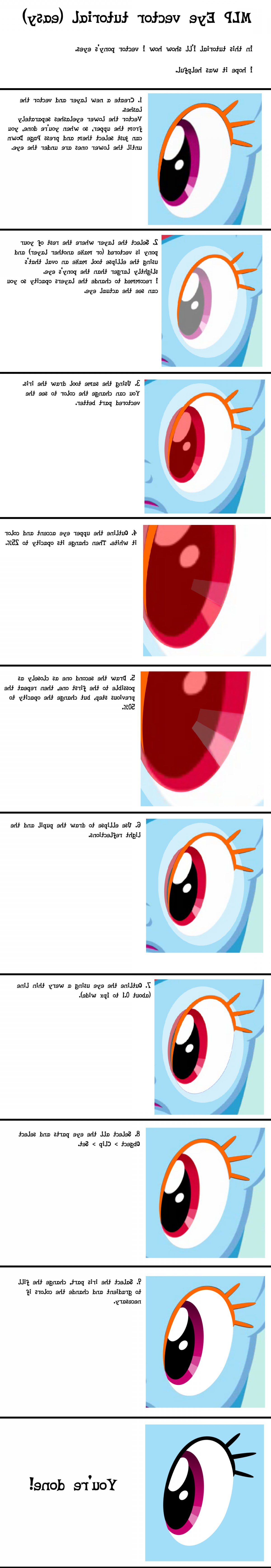 Use An Image To Vector Inkscape: Mlp Pony Eye Vector Tutorial Inkscape