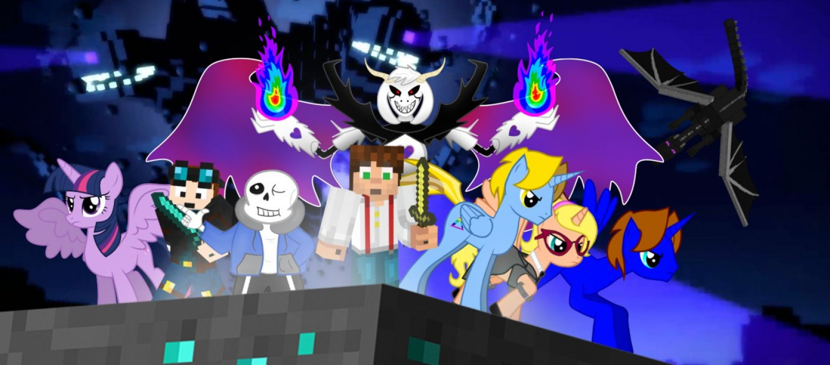 MLP Vector Skeleton: Mlp Return Of The Wither Storm