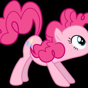 MLP Vector Think Pink: Pinkamena Diane Pie Vector My Little Pony Fim