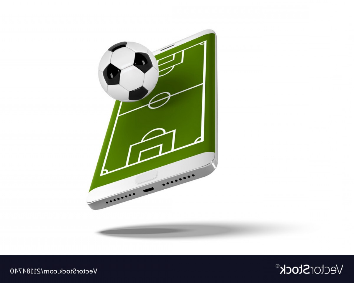 Vector Sport Spot: Mobile Football Soccer Mobile Sport Play Match Vector