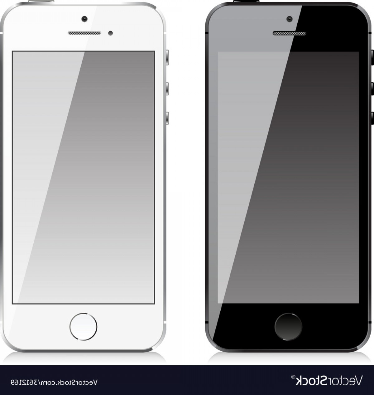 IPhone Battery Vector Icons: Mobile Phone Similar To Iphone Style Vector