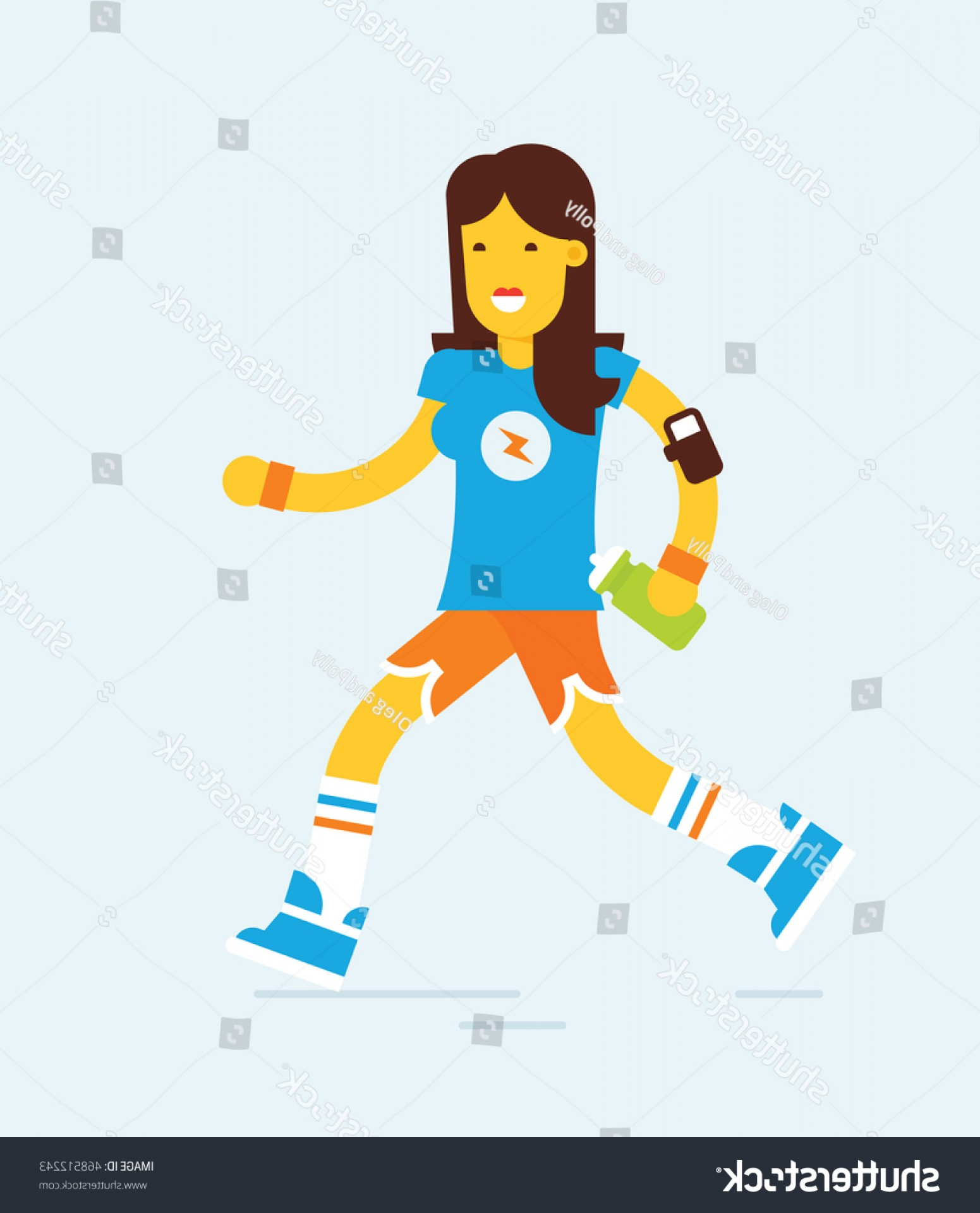 Shutterstock Vector Design With Runner: Modern Flat Design Style Illustration Runner