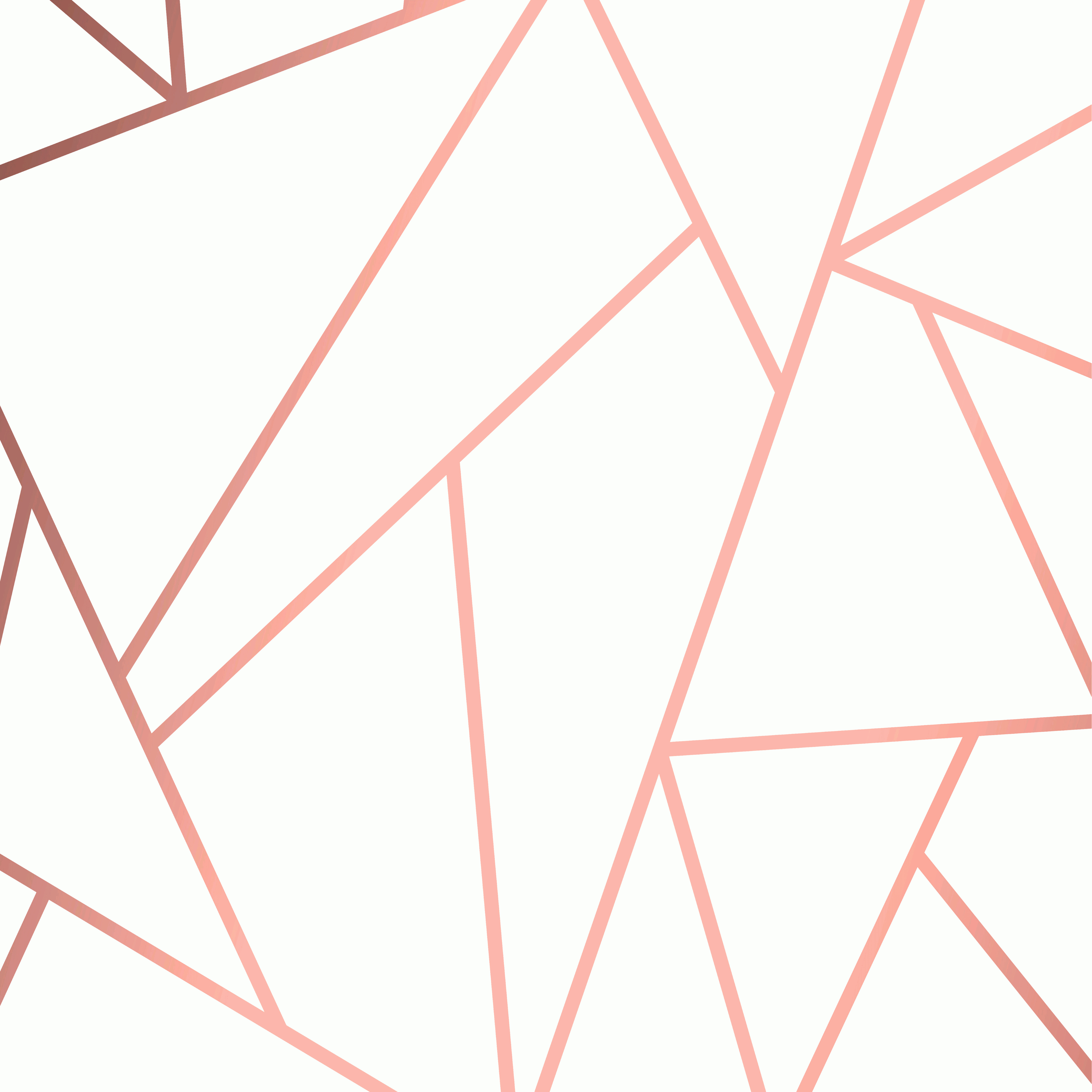 Contemporary Wallpaper Art Vector: Modern Mosaic Wallpaper In Rose Gold And White