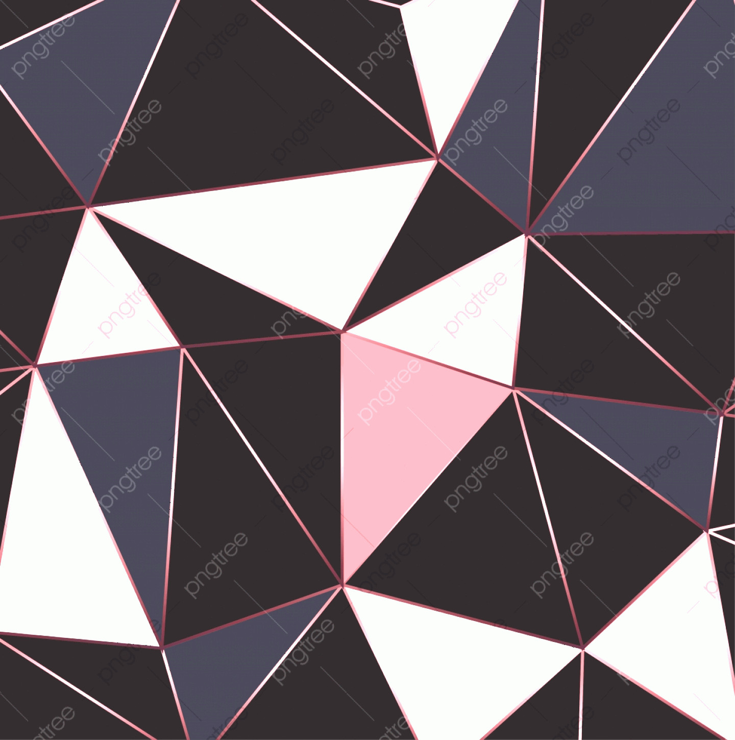 Contemporary Wallpaper Art Vector: Modern Mosaic Wallpaper In Rose Gold Gold And Black