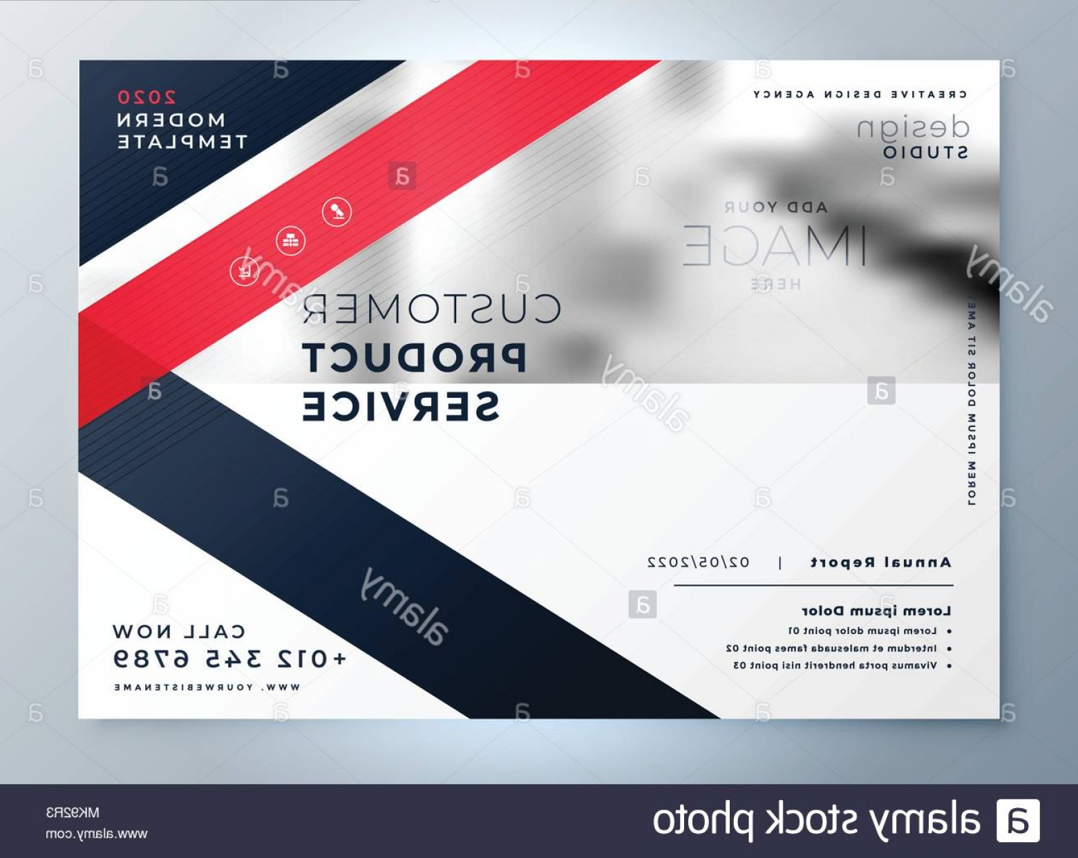 Red Professional Background Vectors: Modern Red Business Flyer Professional Presentation Background Image