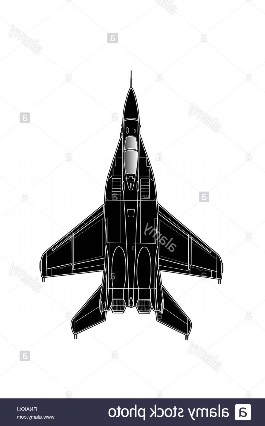 Vector X-15 Art: Modern Russian Jet Fighter Aircraft Vector Draw Image