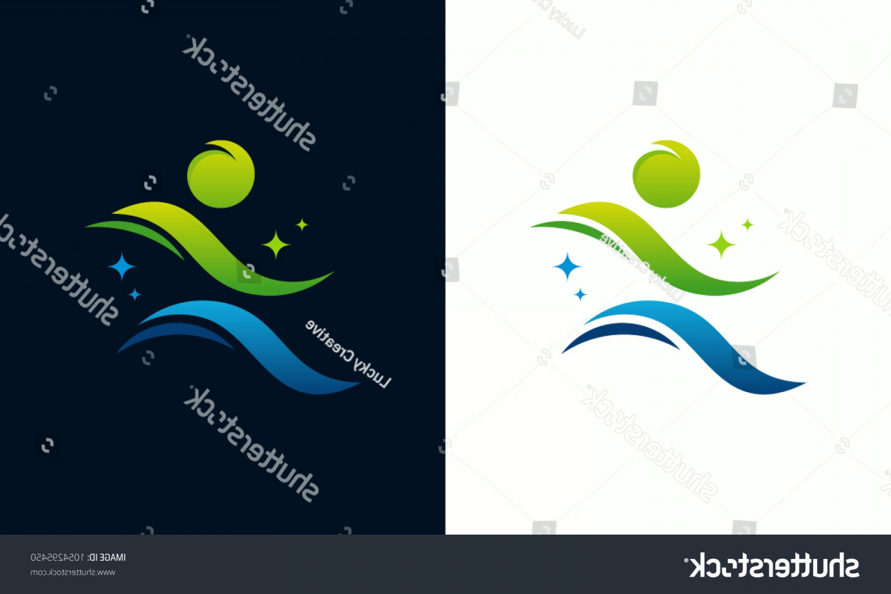 Shutterstock Vector Design With Runner: Modern Sport Logo Designs Runner Template