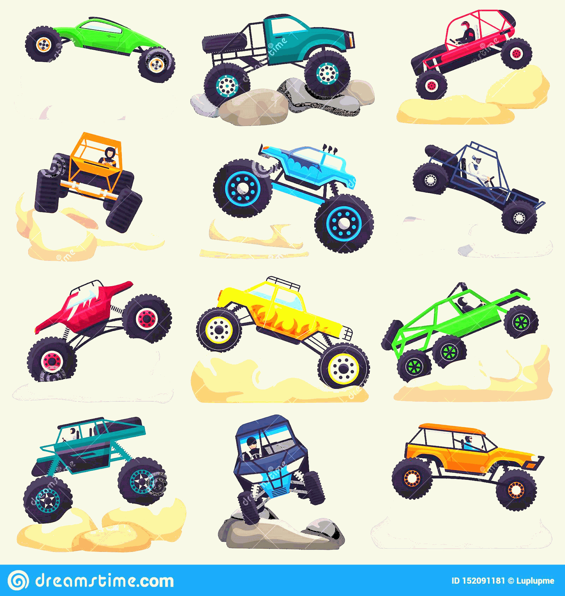 Monster Truck Tires Vector: Monster Truck Vector Cartoon Vehicle Car Extreme Transpor Monster Truck Vector Cartoon Vehicle Car Extreme Transport Image