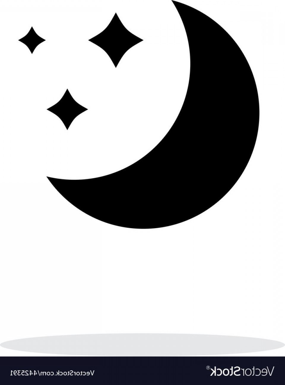 Simple Moon Vector Art: Moon Simple Icon On White Background Vector