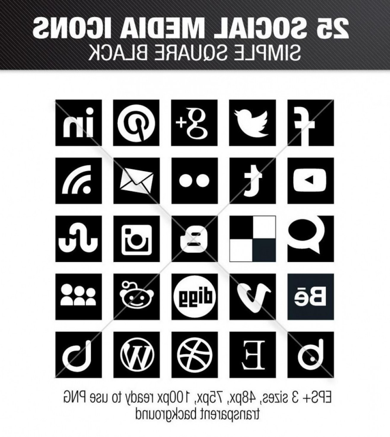 Social Media Vector Icon PNG Black: Most Up To Date Social Media Icons Vector