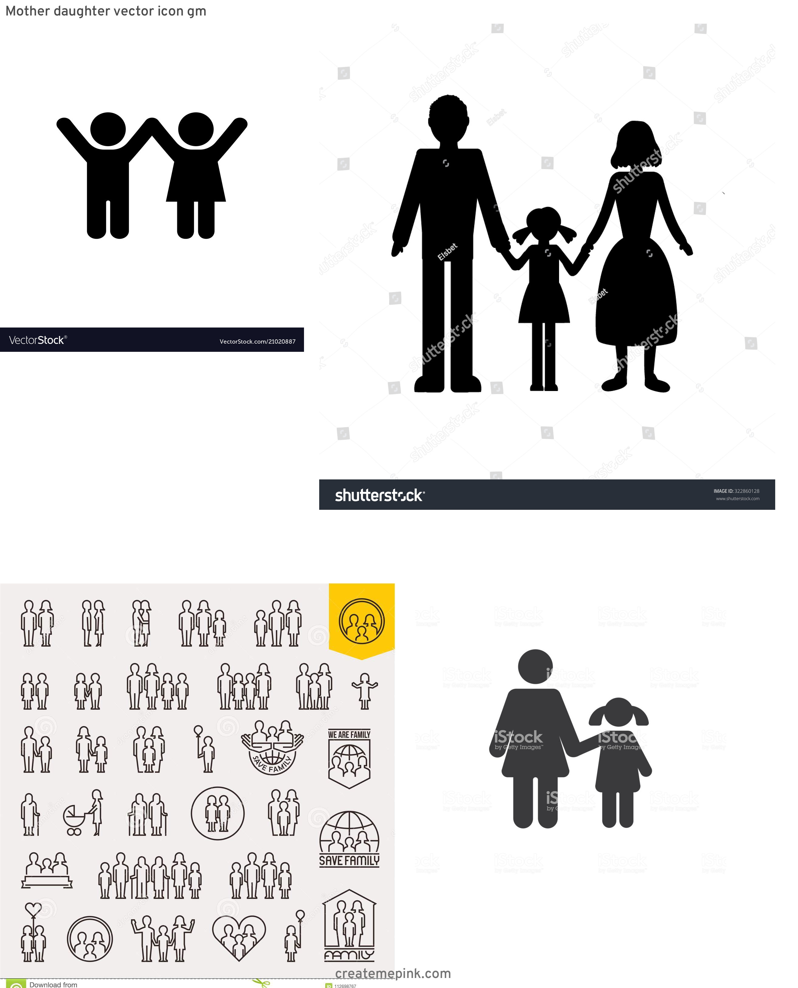Daughter Vector Icons: Mother Daughter Vector Icon Gm