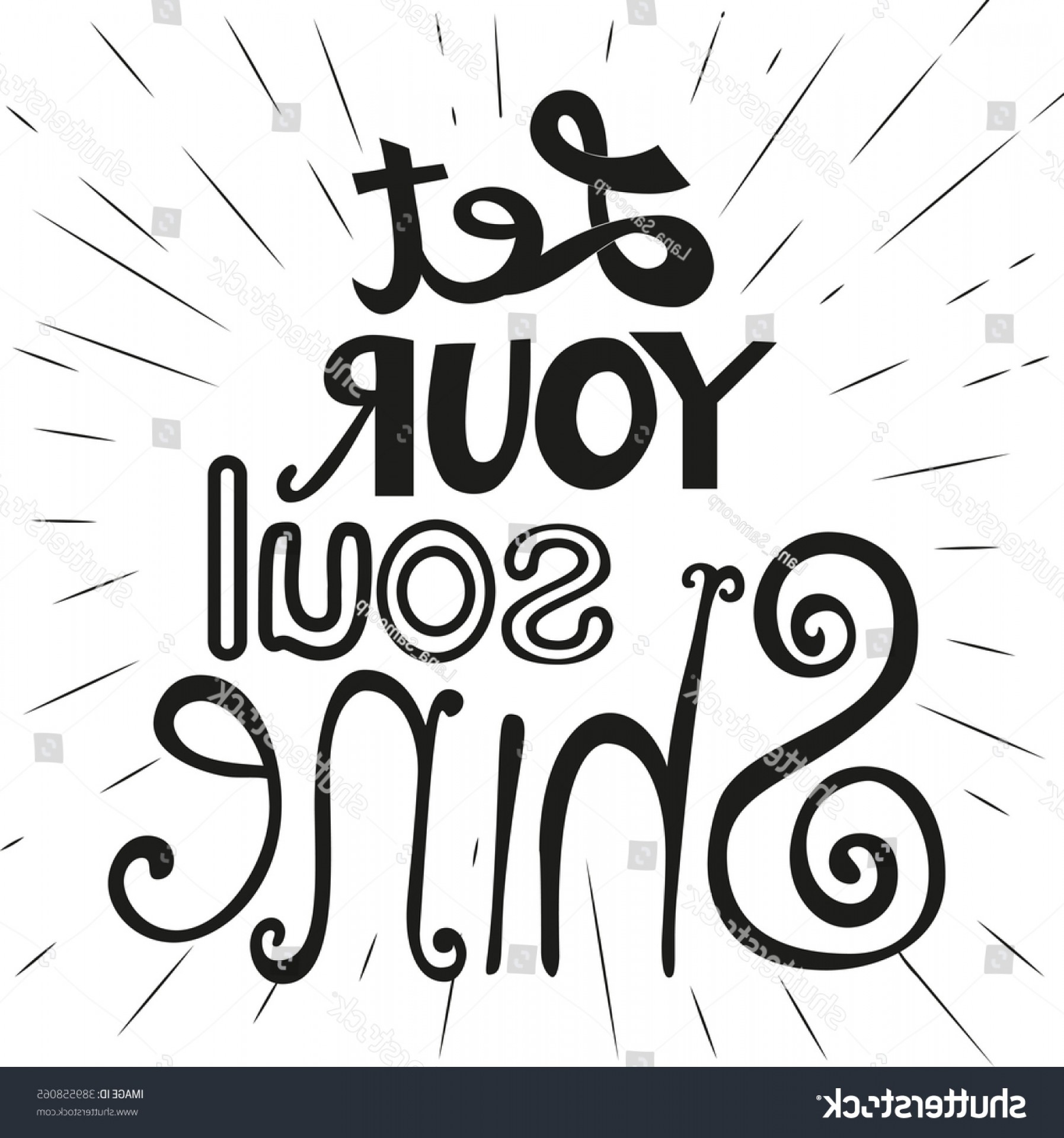 Fancy Ampersand Vector: Motivated Music Quote Let Your Soul