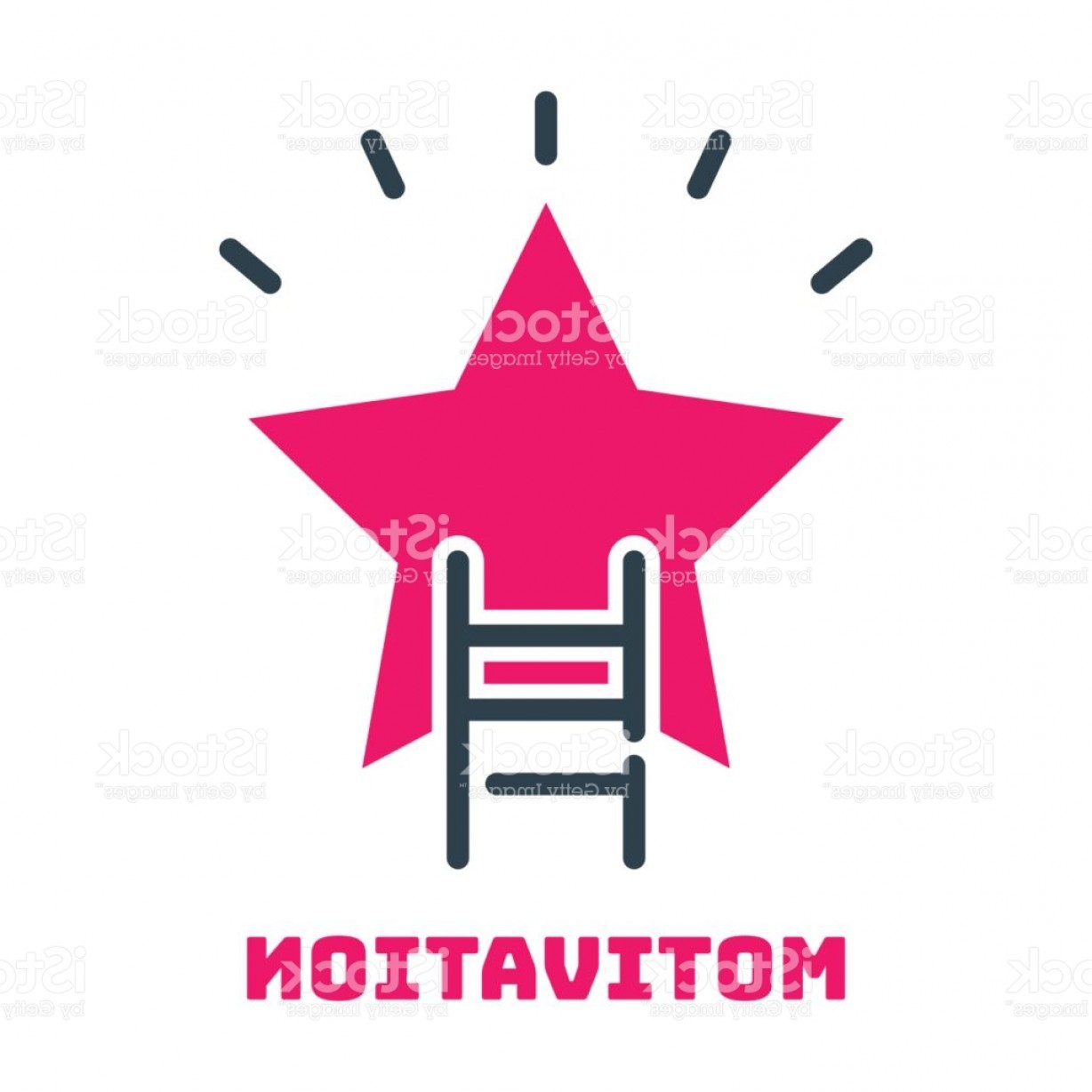 Vector Career Ladder: Motivation Concept Career Ladder Star Icon Business Strategy Development Design And Gm