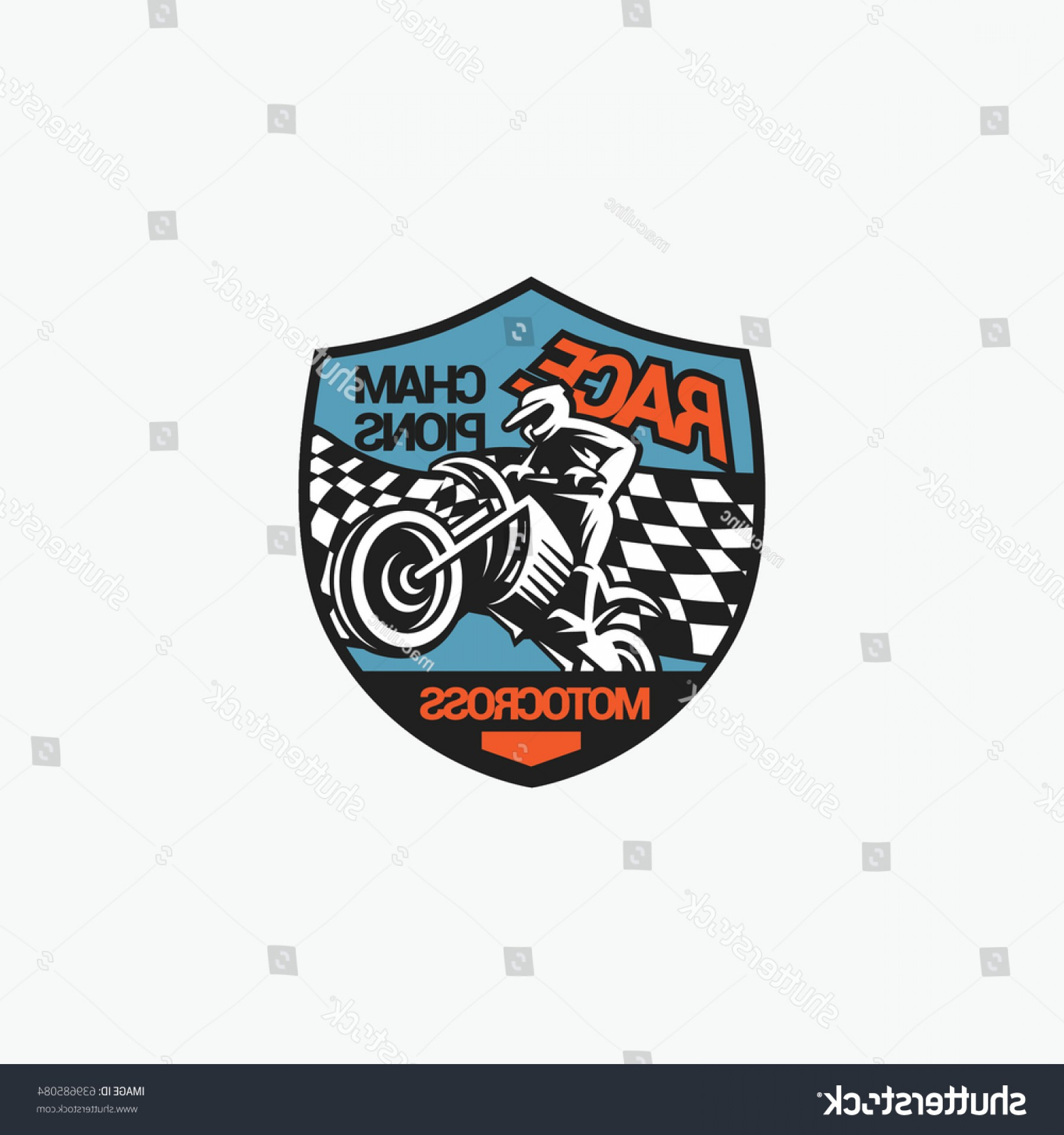 Dirt Bike Gas Can Vector: Motocross Logo Emblem Vector Illustration