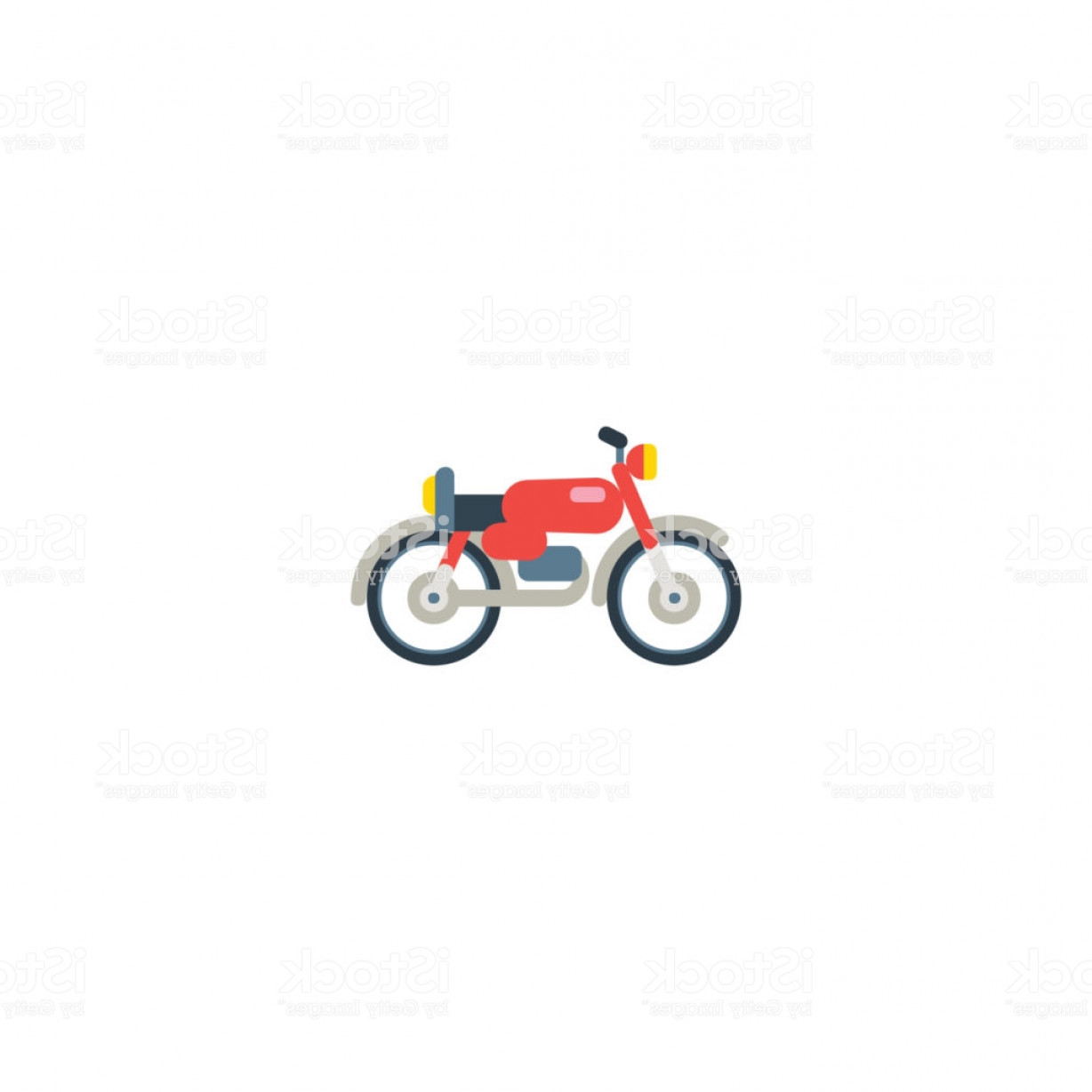 Flat Vector Motorcycle: Motorcycle Flat Vector Icon Isolated Motor Bike Illustration Symbol Vector Gm