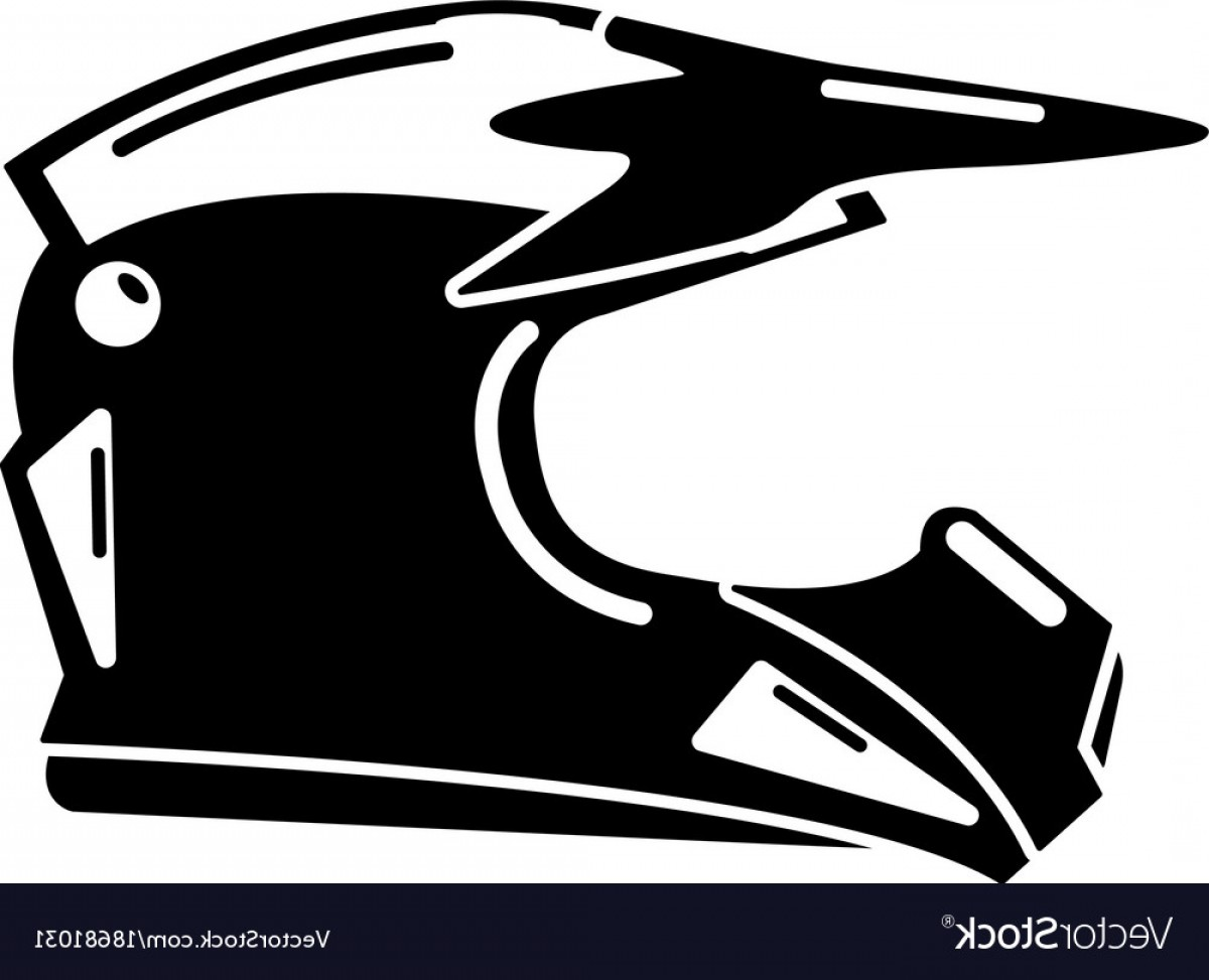 Motorcycle Helmet Vector Art: Motorcycle Helmet Icon Simple Black Style Vector