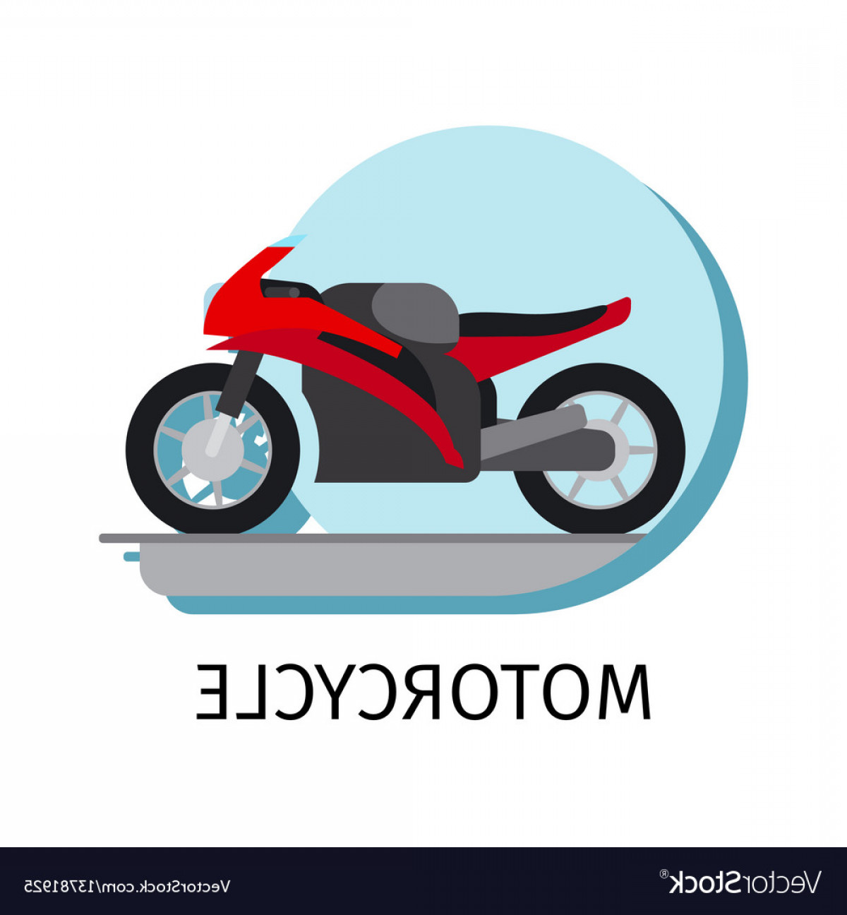 Flat Vector Motorcycle: Motorcycle In Flat Style Vector