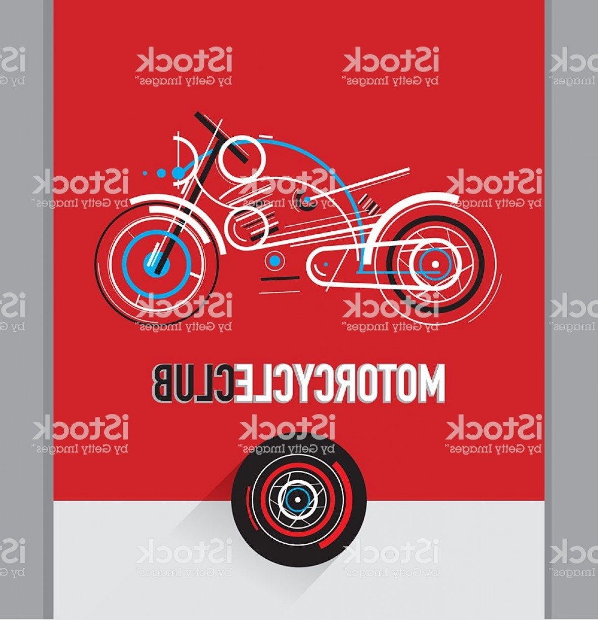 Stylized Vector Motorcycle: Motorcycle Vector Illustration Motorcycle Club Stylized Graphic Composition Gm