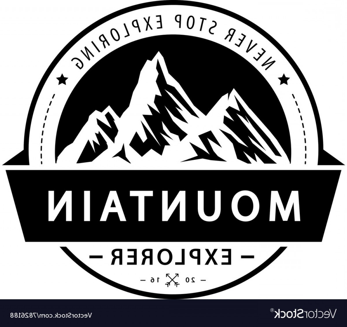 Hipster Logo Vectors Mountain: Mountain Logo Emblem Adventure Retro Vector