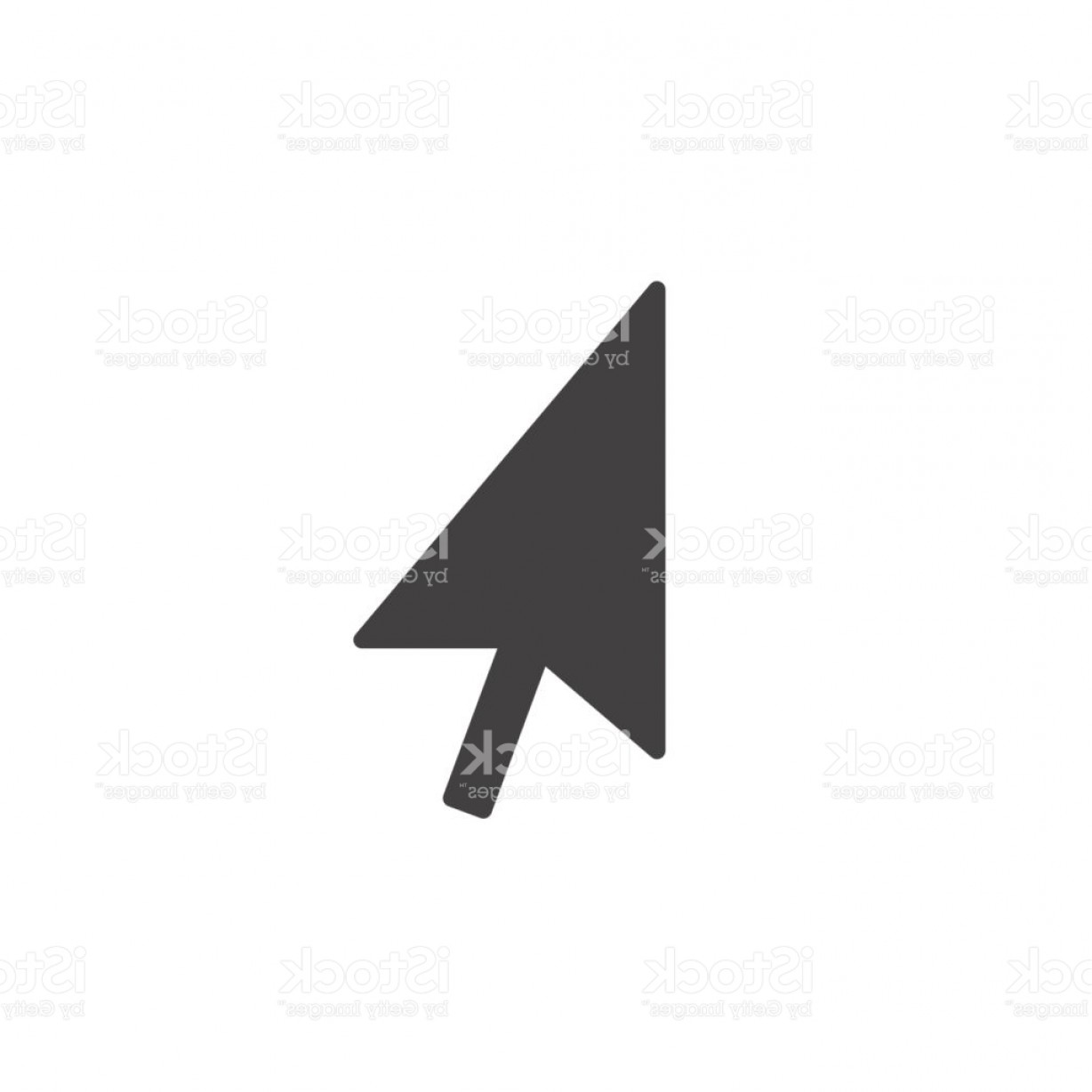 Computer Pointer Vector: Mouse Pointer Icon Vector Solid Logo Illustration Pictogram Isolated On White Gm