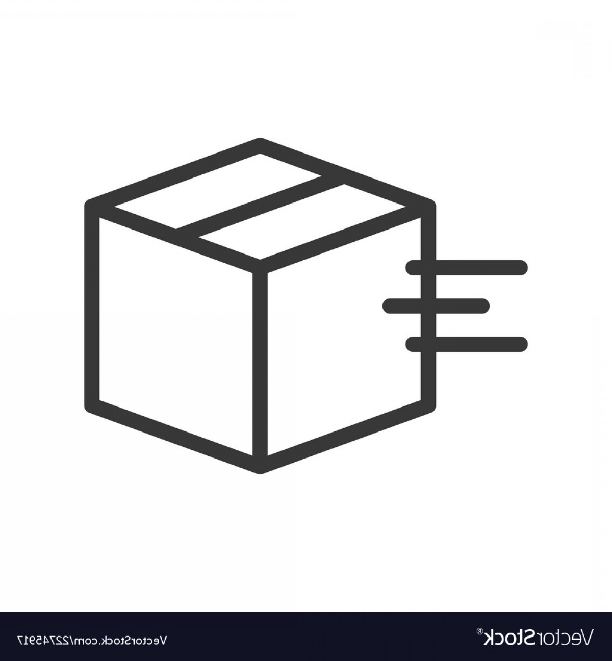 Box Outline Vector: Moving Box Shipping And Logistic Icon Outline Vector