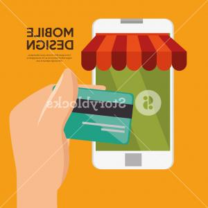 Vector Technology Store: Mobile Design Shop Store Virtual Technology Vector Illustration Eps Scnpfudykmjejauf