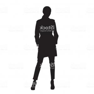 Vector Model Poses: Model Woman Posing And Standing With Legs Apart Front View Isolated Vector Gm