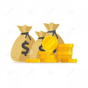 Cooper Tires Logo Vector: Money Vector Big Pile Stack Gold Coins Cash Bags Lot Money Isolated Idea Wealth Richness Success Image