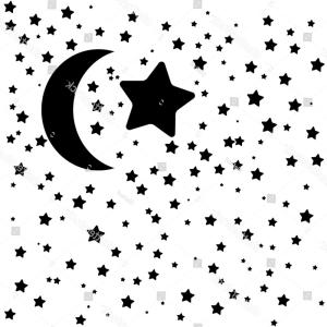 Star And Crescent Moon Vector: Moon Star Icon Night Sky Stars