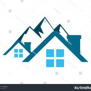 Mountain House Logo Vector: Mountain House Housing Home Residence Residency