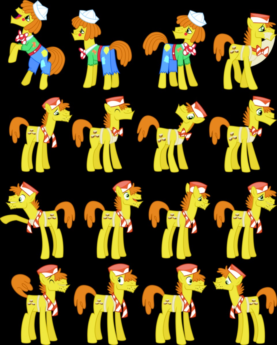 MLP Cake Vector: Mr Cake Vectors Set