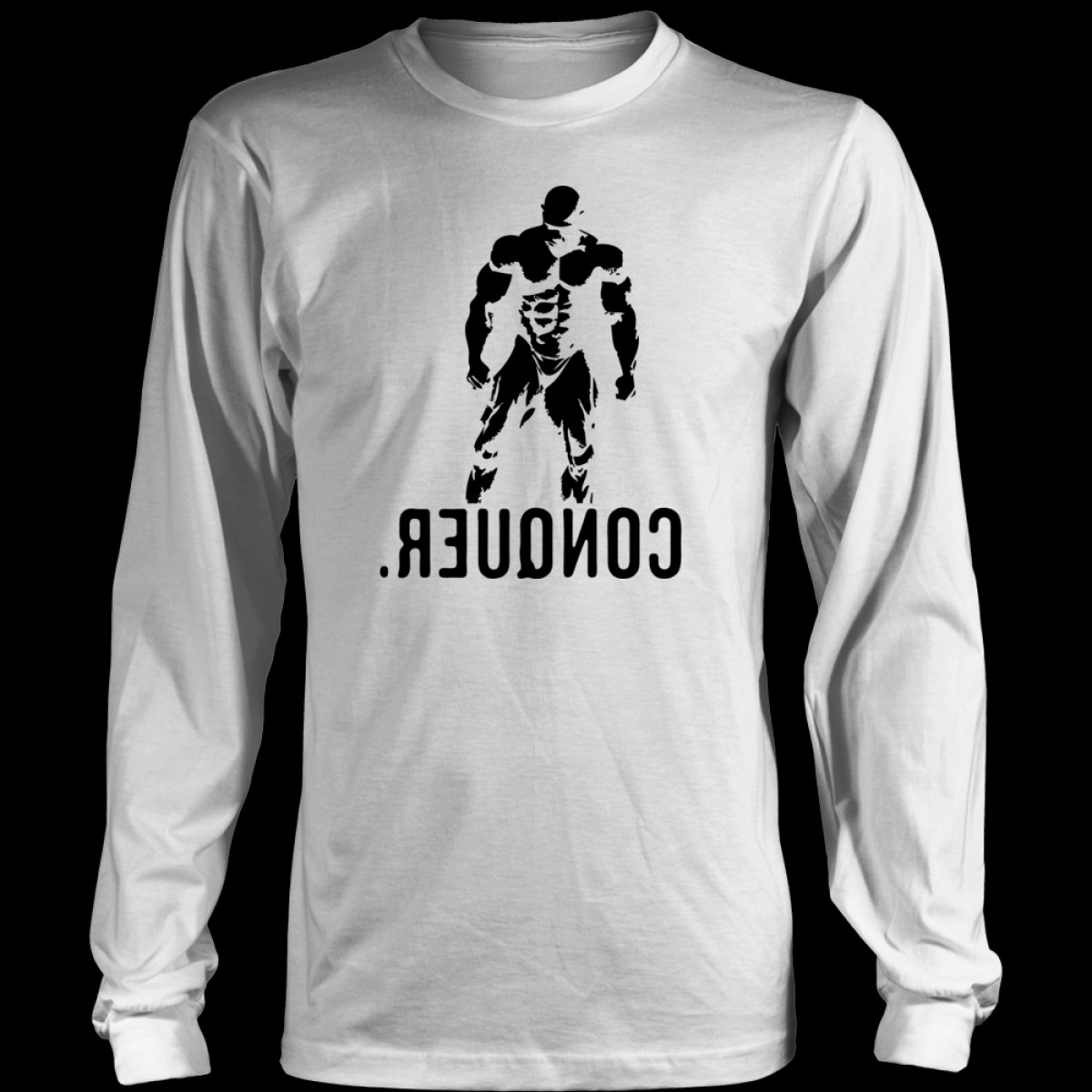 Vector Cancer Shirts: Mr Olympia Bodybuilding Vector Conquer Design T Shirt Hoodie Tank Top