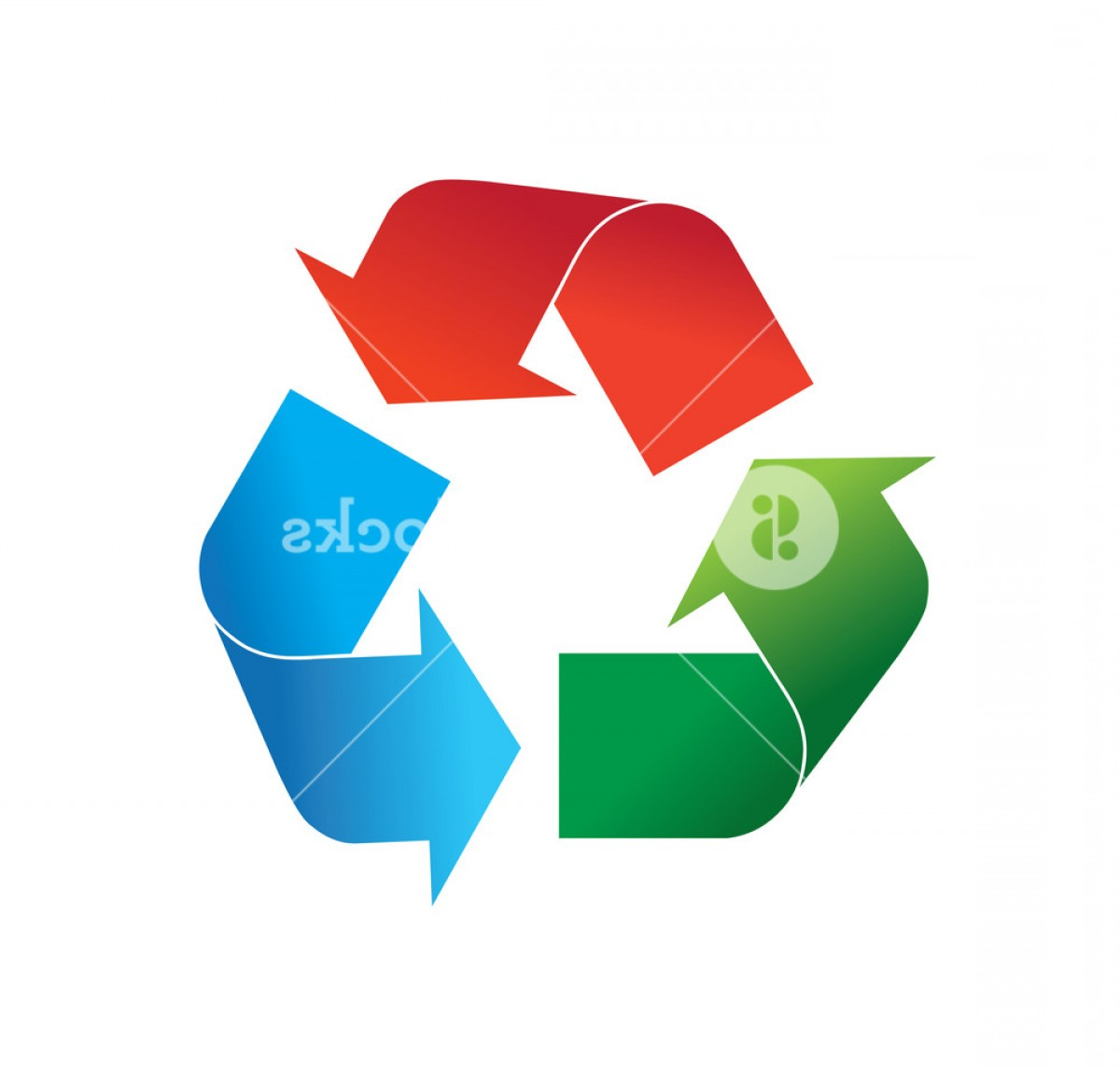 Recycle Icon Vector Red: Multi Colored Red Green And Blue Recycling Logo Icon Vector Illustration Isolated On White Background Rhaqxtmejqzpuzc